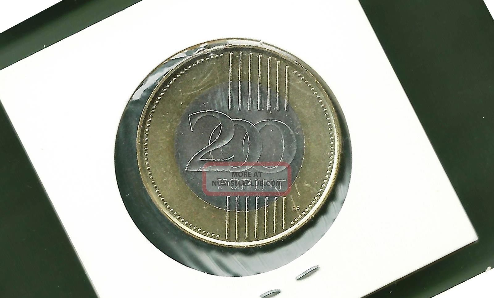 Hungary 2009 200 Forint Bi - Metallic Unc Coin Europe photo