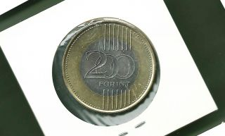 Hungary 2009 200 Forint Bi - Metallic Unc Coin photo