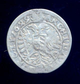Austria 1629 3 Krajczar Silver Ferdinand Ii Habsburg photo