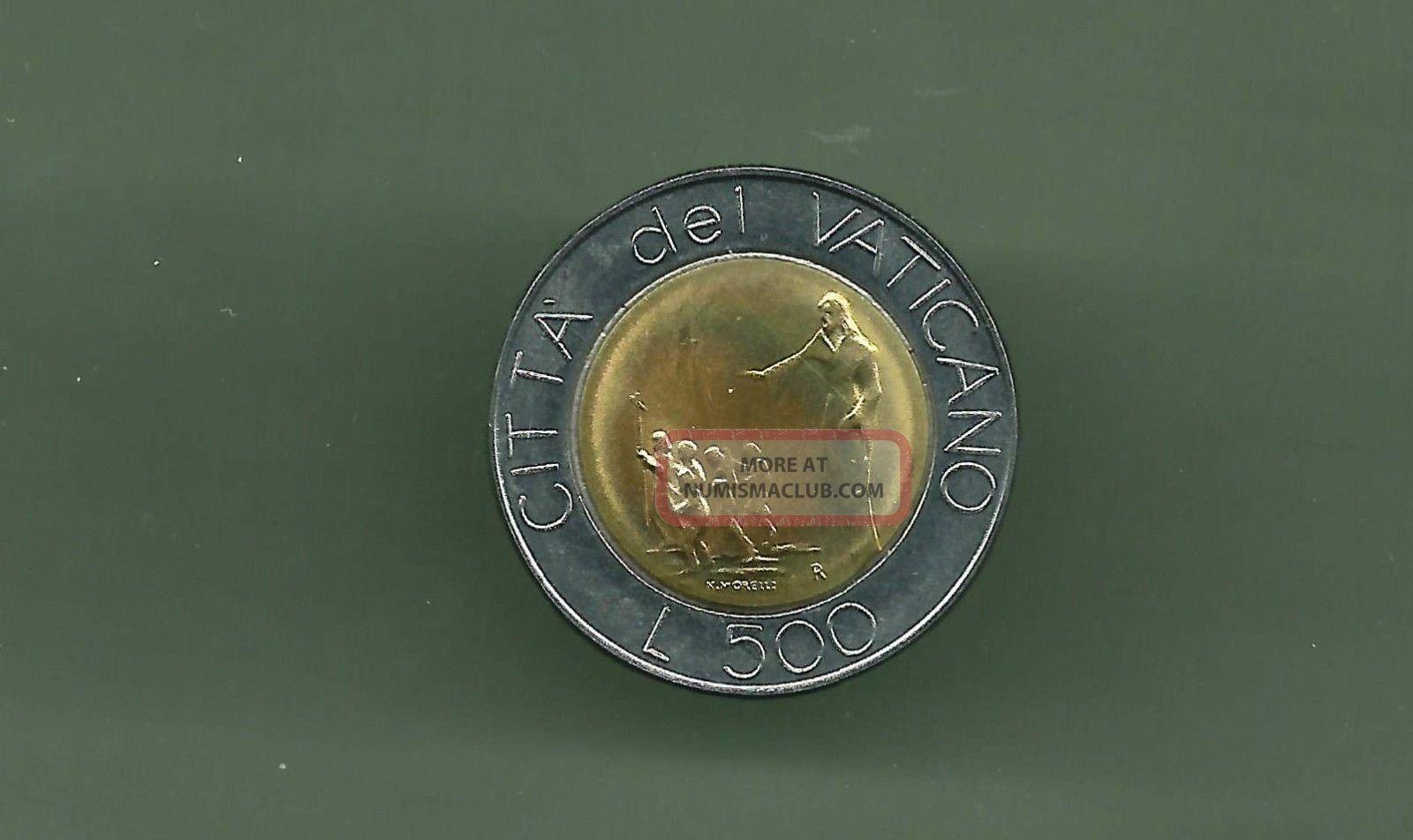 Vatican 1991 500 Lire Bi - Metallic Unc Coin Italy, San Marino, Vatican photo