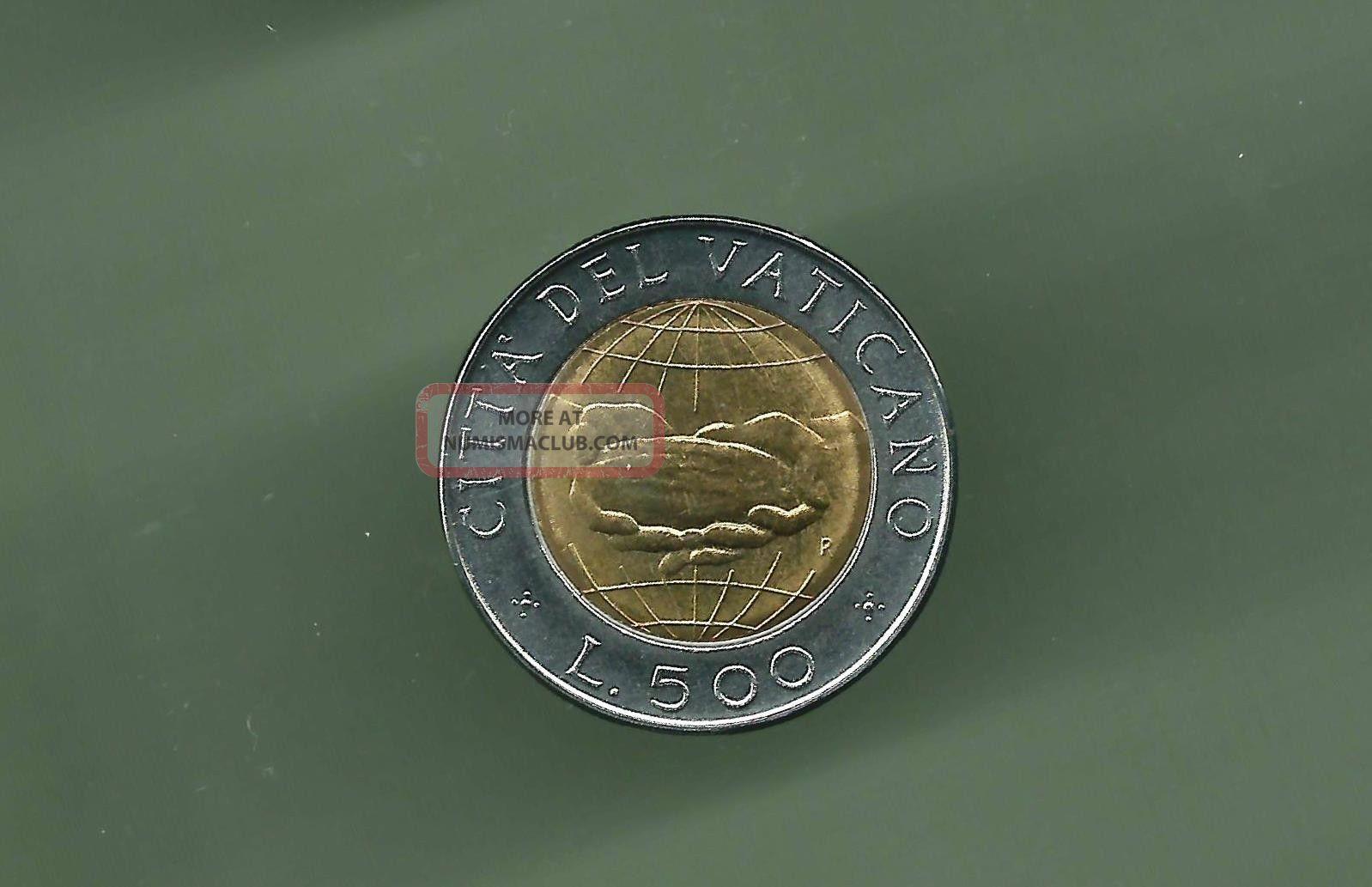 Vatican 1992 500 Lire Bi - Metallic Unc Coin Italy, San Marino, Vatican photo