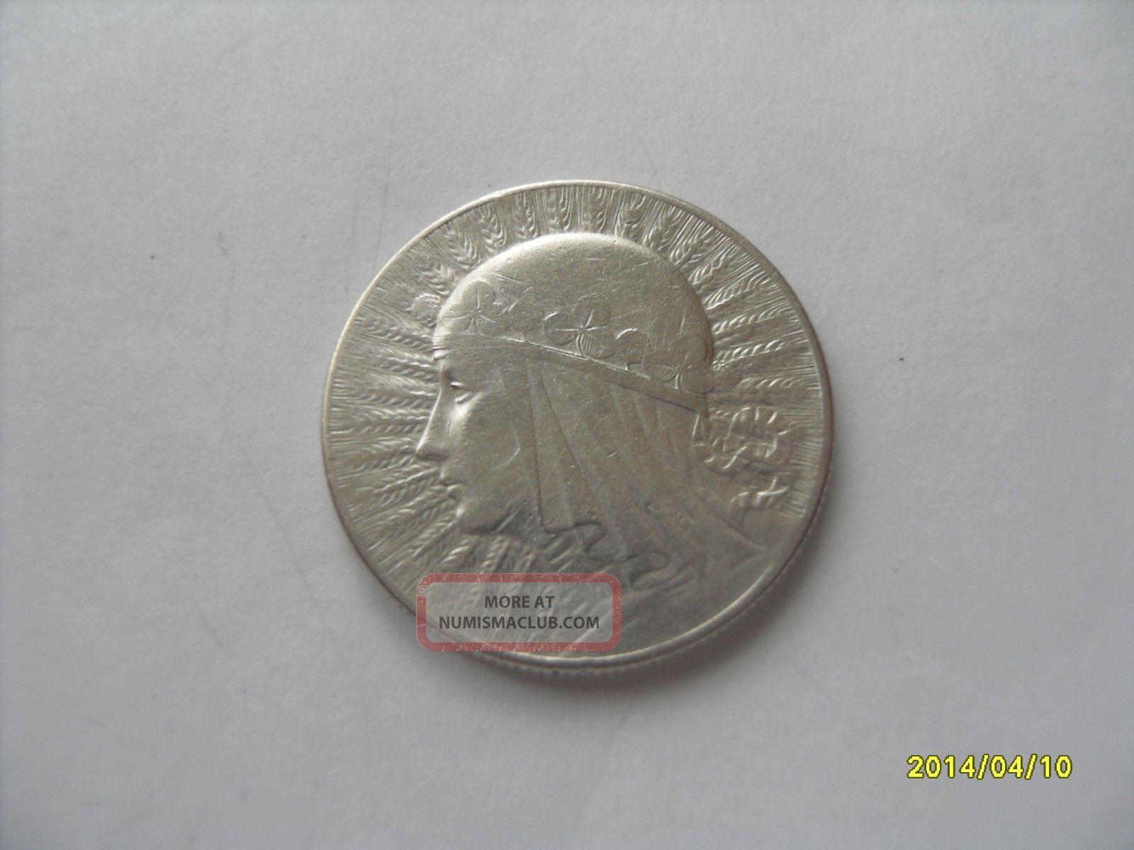 5 Zlotych Silver Queen Jadwiga 1933 Europe photo
