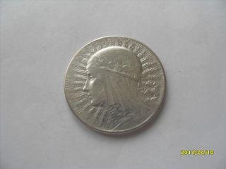 5 Zlotych Silver Queen Jadwiga 1933 photo