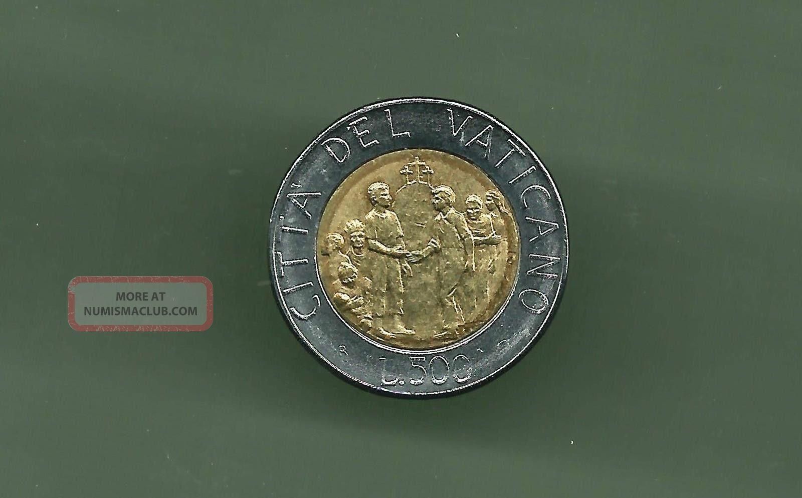 Vatican 1994 500 Lire Bi - Metallic Unc Coin Italy, San Marino, Vatican photo