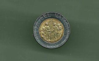 Vatican 1994 500 Lire Bi - Metallic Unc Coin photo