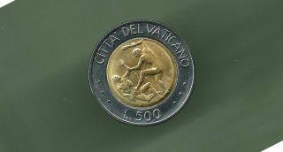 Vatican 1995 500 Lire Bi - Metallic Unc Coin photo