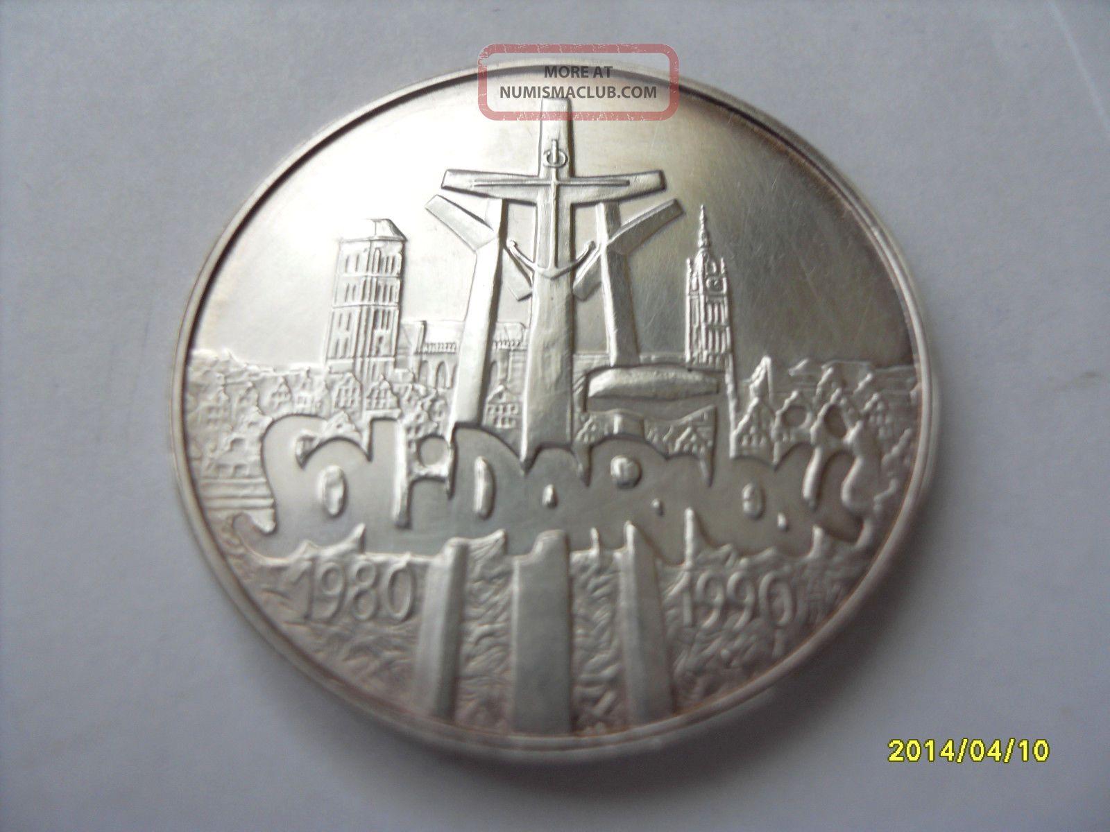 Poland 100 000 Zl - Solidarnosc - 1990 - Silver Europe photo