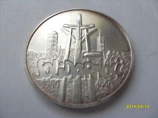 Poland 100 000 Zl - Solidarnosc - 1990 - Silver photo
