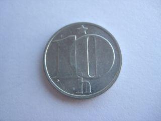 1985 Czechoslovakia 10 Heller Coin photo