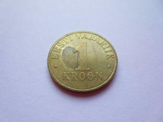 2003 Estonia Eesti 1 Kroon Coin photo