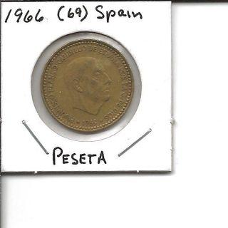 1966 (69) Spain Peseta (6 Pointed Star) photo