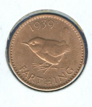 1939 British Farthing Coin photo