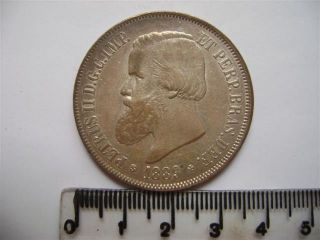 Ebr68 - Brasil Brazil Brasilien 2000 Reis 1889 Xf++ Silver Silber Plata photo