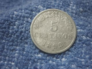 Bolivia: Scarce 5 Centavos 1892 - H About Very Fine photo