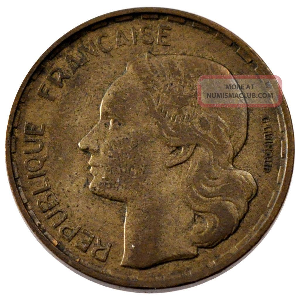 French Coin,  French Fourth Republic,  50 Francs Guiraud Europe photo