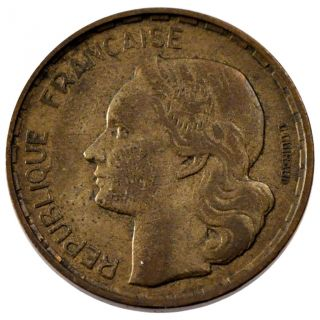 French Coin,  French Fourth Republic,  50 Francs Guiraud photo