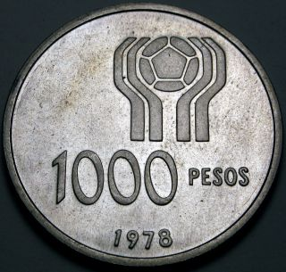 Argentina 1000 Pesos 1978 Proof - Silver - 1978 World Soccer Championship photo