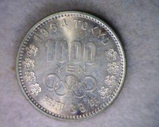 Japan 1000 Yen 1964 Bu Japanese Silver photo