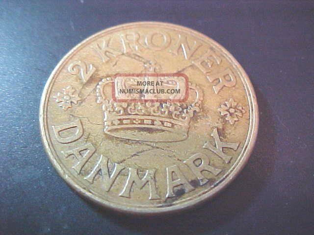 1926 2 Kroner Denmark Europe photo