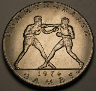 Samoa 1 Tala 1974 - Copper/nickel - 10th British Commonwealth Games - Aunc photo