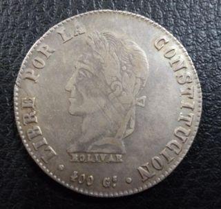 Bolivia Silver Coin 8 Soles Km138.  6 Xf - 1861 F.  J. photo