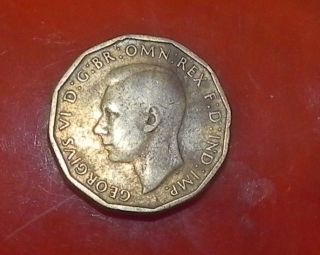 1942 Three Pence Coin - Great Britain photo