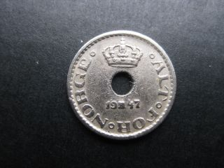 Norway 1947 10 Ore Coin