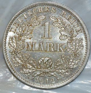 Germany - Empire Mark 1912d - Beuautiful Silver Coin - Km 14 Munich photo