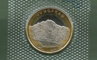 Switzerland 2005 10 Francs Bi - Metallic Unc Coin photo