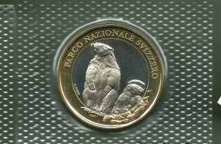 Switzerland 2010 10 Francs Bi - Metallic Unc Coin photo