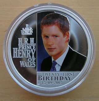Prince Henry Of Wales 1oz Silver Proof Coin 2005 $1 Australia: Prince Harry photo