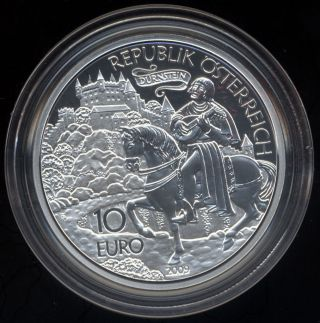 Austria Richard The Lionheart 10 Euro Silver Coin 2009 Proof Tales & Legends photo