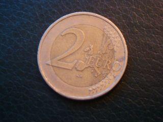 German 2002 2 Euro Bi - Metallic Coin German (european Union Euro) 2002 photo