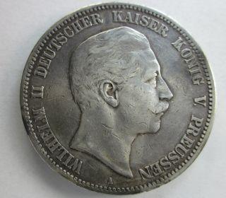 Prussia Silver 5 Mark 1904a photo