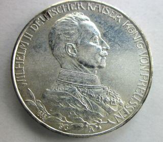 Prussia Silver 3 Mark 1913 photo