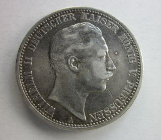 Prussia Silver 2 Marks 1904 photo