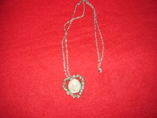 Vintage 1964 Sixpence Canadian Coin Necklace In Heart Setting With Chain photo