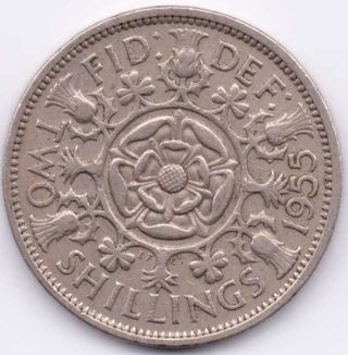 1955 Great Britain (uk) Florin That Is Extra Fine. . photo