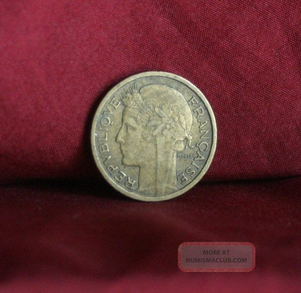 1941 France 50 Centimes World Coin Km894.  1 Liberty Head Cornucopia French Wwii Europe photo