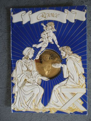 1991 Franklin Christmas Card With Bronze Coin By Eillen Rudisill photo