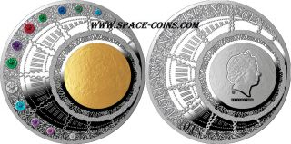 13oz Silver 100$ Niue 2013,  Only 222 Made Swarovski,  Magic Year Of Happiness photo