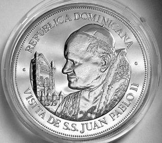 Dominican Republic 1979 25 Pesos Ch Pl Bu In Case - - Pope John Paul Ii - - photo