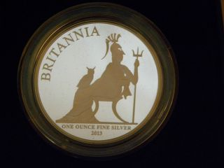 2013 United Kingdom 2 Pounds Britannia Proof Coin,  Limited Edition Presentation photo