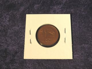 Foreign Zambia 1983 1 Ngwee Zambian Cent Coin - Flip photo