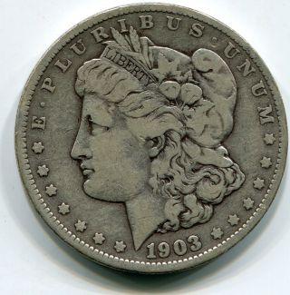 Morgan Dollar,  1903o Scarce.  9000 Silver.  7734oz Actual Silver Weight Head Left photo