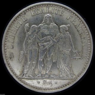 1965 France 10 Francs Hercules Silver Crown Size Coin Km 982 Jpcoins photo