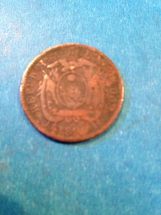 1890 Ecuador Un Centavo photo