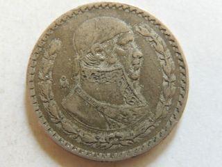 1959 Mexican Un Peso Silver Coin (hurricane Sandy Survivor). photo