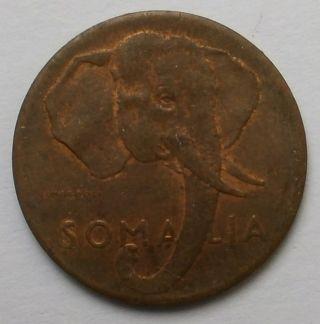 Somalia Elephant 1 Centesimo 1950 Xf - Au photo