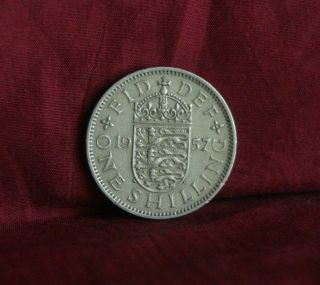 1957 Great Britain One Shilling England World Coin Uk Lion English Shield Crown photo